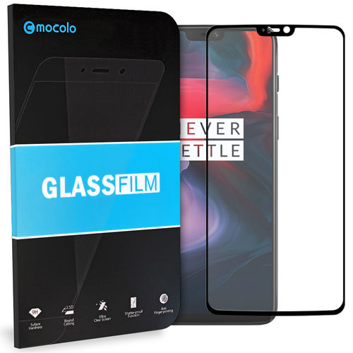 Full Coverage Tempered Glass Screen Protector for OnePlus 6 - Black
